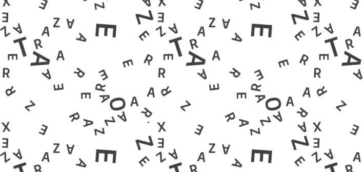 Imagem com letras espalhadas pela tela